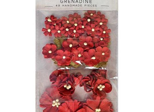 Grenadine Botanical Potpourri Flower Embellishment