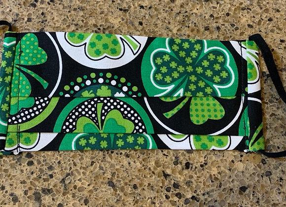 Four Leaf Clover Circle Cotton Mask
