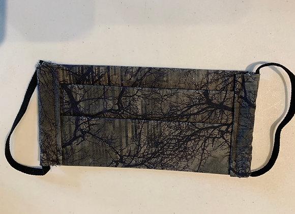 Black Tree Branch Cotton Mask