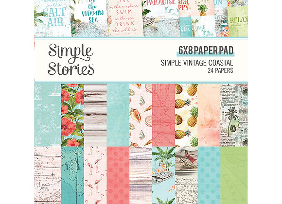 6x8 Designer Pad,  SV Coastal, NEW Simple Stories May 2020