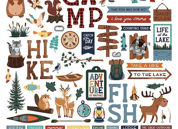 Camp Happy Bear Element Sticker