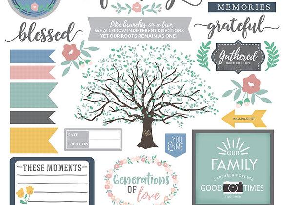 Family Elements 12x12 Sticker