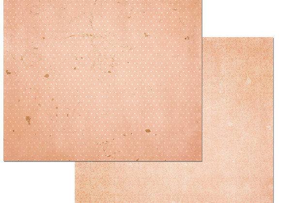 Peaches&Crm Double Dots 12X12 2-Sided Vintage Cardstock Paper BoBunny
