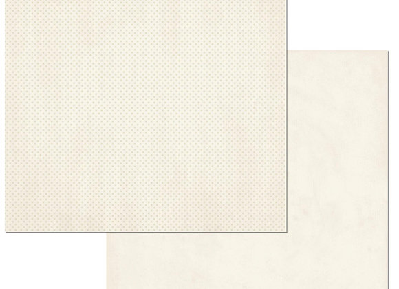French Vanilla Double Dots 12X12 2-Sided Cardstock Paper BoBunny
