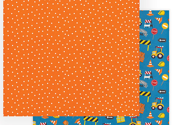 Little Builder Construction Zone 12x12 Patterned Paper