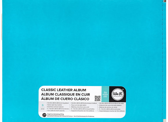Aqua 12x12 3 Ring Binder Scrapbook Album