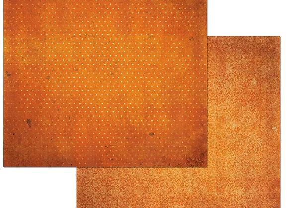 Burnt Orange Double Dots 12X12 2-Sided Vintage Cardstock Paper BoBunny