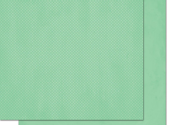 Jade Double Dots 12X12 2-Sided Cardstock Paper BoBunny