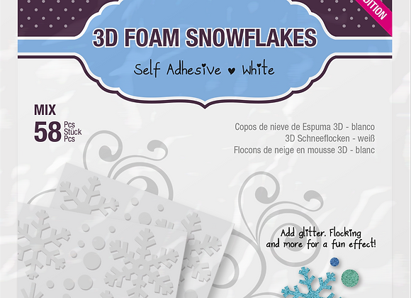 3D Foam Snowflakes