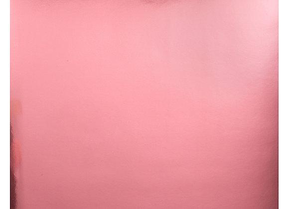 Lt. Pink Foil 12X12 1 Side Bazzill Cardstock