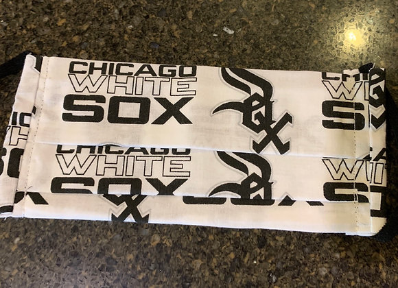 Chicago White Sox Cotton Fabric Tossed Print Mask