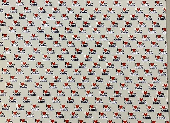 I Love CUBS Custom 12x12 Paper