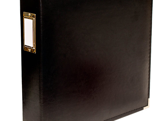 Black  12x12 3 Ring Binder Scrapbook Album
