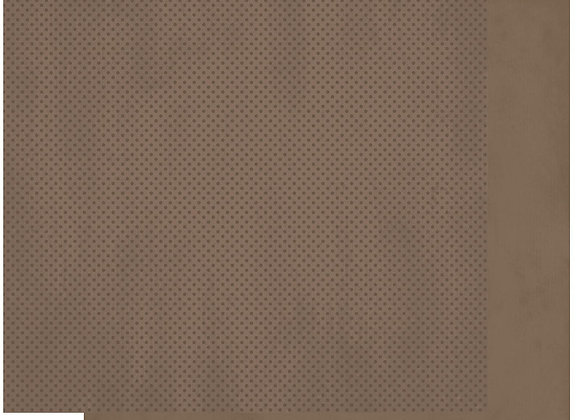 Shittake Double Dots 12X12 2-Sided Cardstock Paper BoBunny