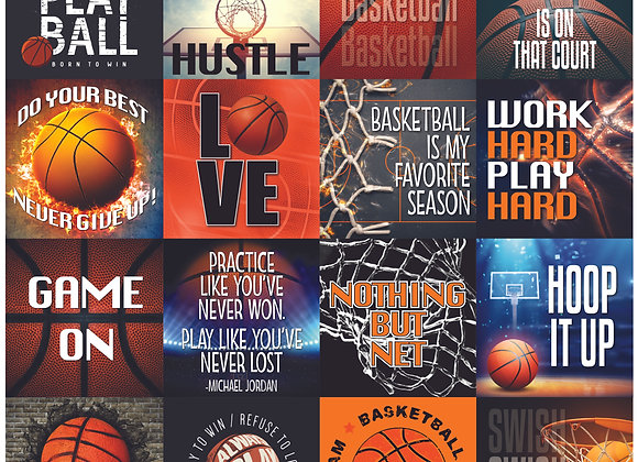 Basketball 12x12 Sticker Game Day