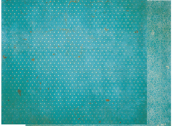 Ocean Double Dots 12X12 2-Sided Vintage Cardstock Paper BoBunny