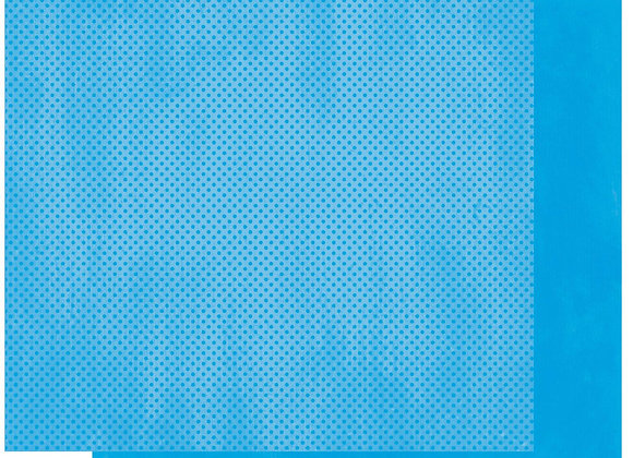 Brilliant Blue Double Dots 12X12 2-Sided Cardstock Paper BoBunny