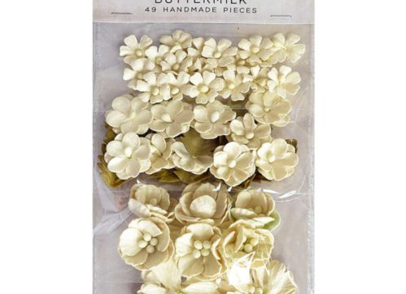 Buttermilk Botanical Potpourri Flower Embellishment