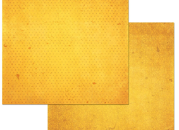 Buttercup Double Dots 12X12 2-Sided Vintage Cardstock Paper BoBunny
