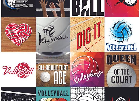 Volleyball 12x12 Sticker Game Day