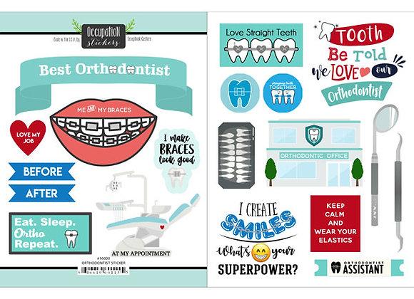 Orthodontist Sticker Custom