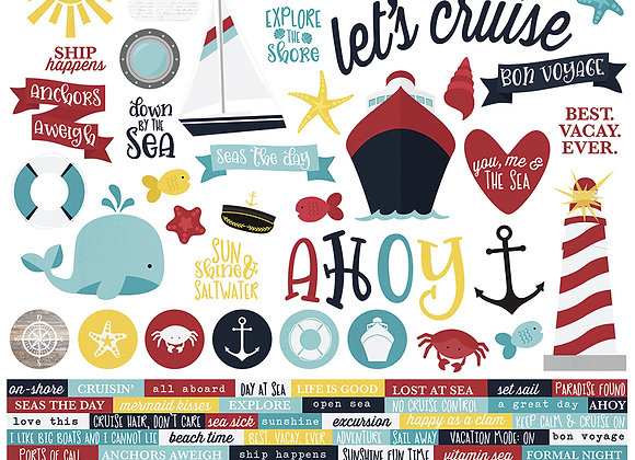 Cruisin' 12X12 Combo Stickers, Cruisin Simple Stories