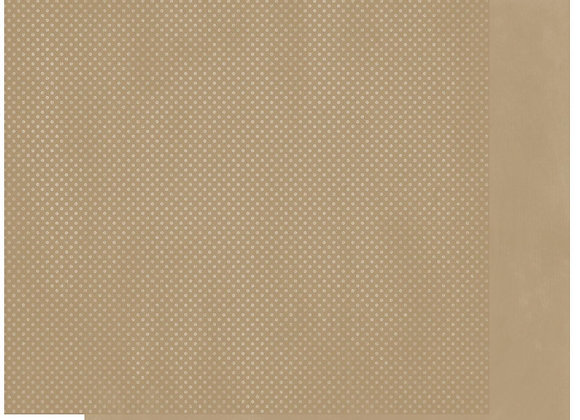Khaki Double Dots 12X12 2-Sided Cardstock Paper BoBunny