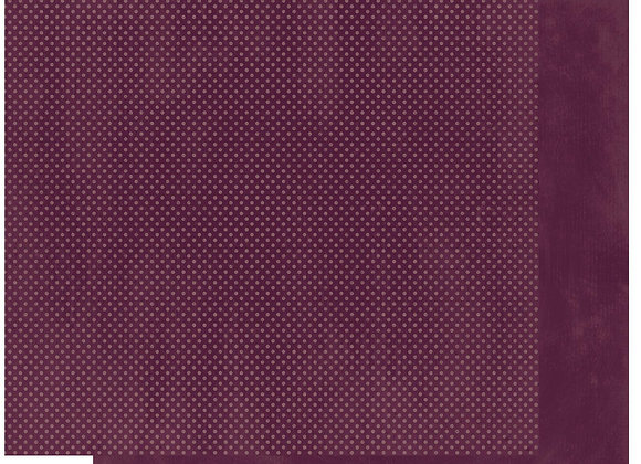 Plum Double Dots 12X12 2-Sided Cardstock Paper BoBunny
