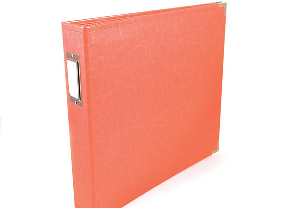 Coral 12x12 3 Ring Binder Scrapbook Album