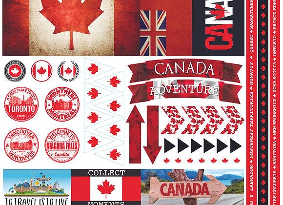 Canada 12x12 Sticker