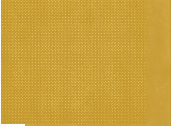 Curry Double Dots 12X12 2-Sided Cardstock Paper BoBunny