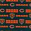 Thumbnail: Chicago Bears Cotton Fabric Mascot Logo Mask