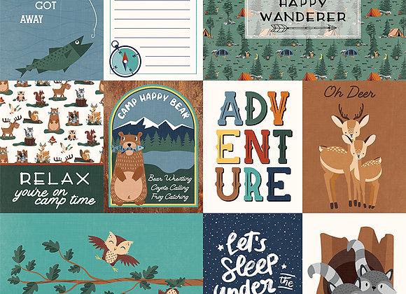 Camp Happy Bear - Wanderer 12x12 Patterned Paper