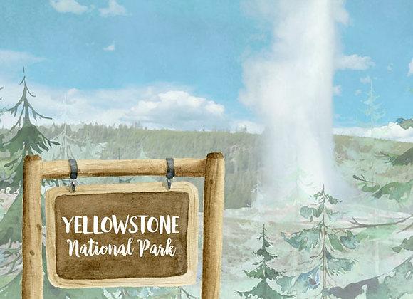 Yellowstone National Park 12x12