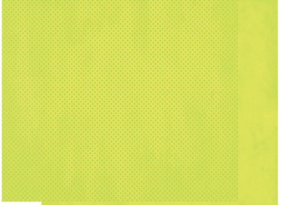 Limeade Double Dots 12X12 2-Sided Cardstock Paper BoBunny