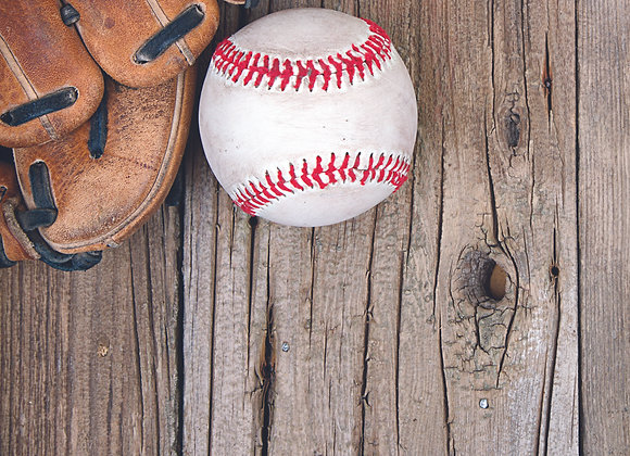 Baseball 2 12x12 Paper