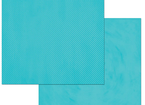 Caribbean Double Dots 12X12 2-Sided Cardstock Paper BoBunny