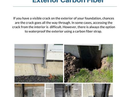 Exterior Carbon Fiber Crack Repair and Waterproofing