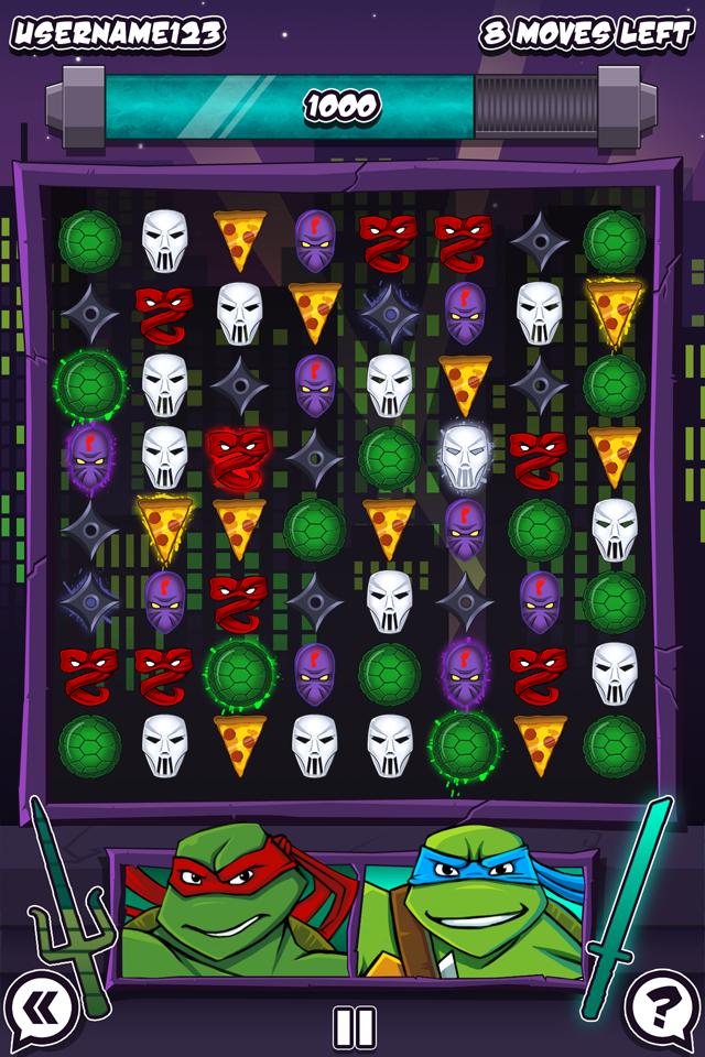 TMNT Match 3 Puzzle Concept