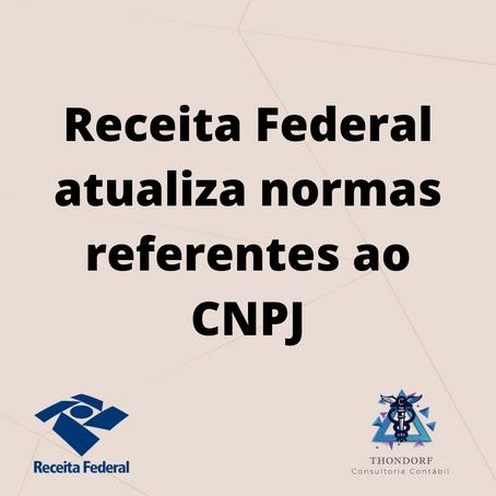 Receita Federal atualiza normas referentes ao CNPJ
