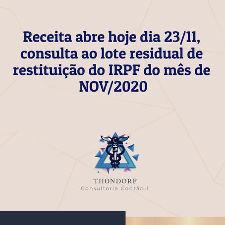 Novo lote de consulta ao imposto de renda 2020