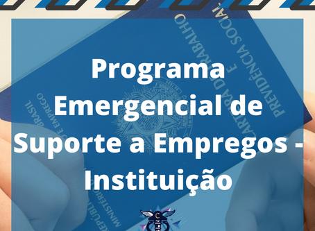 Programa Emergencial de Suporte a Empregos - Instituição