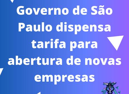 Governo de São Paulo dispensa tarifa para abertura de novas empresas