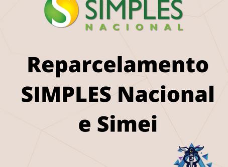 Reparcelamento SIMPLES Nacional e Simei