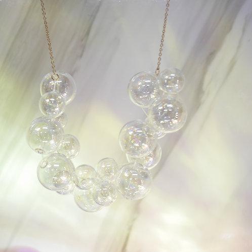 925 Sliver Holographic 002 Bubble Bubbles Necklace