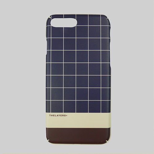 GRAPHIC PRINT - NAVY GRID iPhone Case