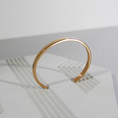 Personalized Engraving Minimal Bangle in 18K Rose Gold