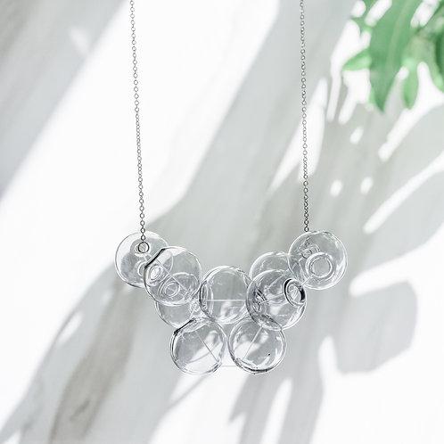 925 Sliver Black Bubble Bubbles Necklace