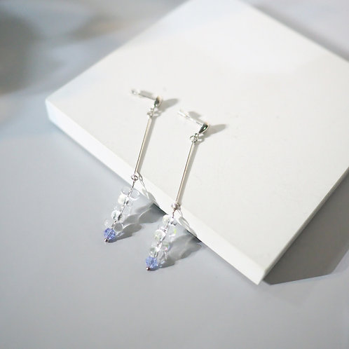 Icelandic Collection |  Dropped 925 Sterling Sliver Glass Earrings