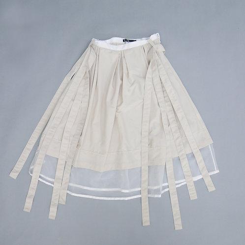 Ribbon Layered Sheer Skirt